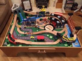 Mountain Rock Train Table