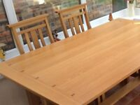 Immaculate dining table and chairs