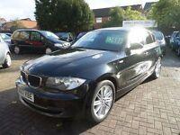 BMW 1 SERIES 2.0 118d SE 5dr 2007 (57 REG), DIESEL, FULL BLACK LEATHER, FULL MOT