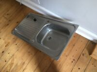 Metal sink 95cm x 50cm