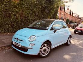 Fiat 500 1.2 petrol auto automatic semi blue not punto corsa vauxhall fiesta yaris polo vw beetle