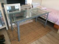GLASS DESK /TABLE **OFFICE OR HOME QUALITY ITEM**MODERN STYLE