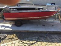 16/17ft hull and trailer no engine
