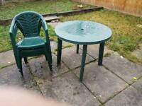 Garden table n chairs