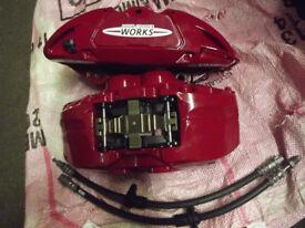 MINI COOPER JCW BRAKE CALIPERS NEW UNUSED F55 F56 F57