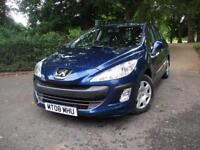 PEUGEOT 308 1.6 HDi 110 + 1 OWNER DIESEL AUTOMATIC DIESEL AUTOMATIC CHEAP TAX INSURANCE (blue) 2008