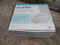 Savanah raised toilet seat - height 10cm