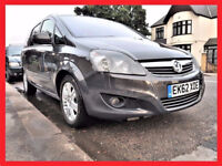 (65000 Miles)-- 2012 Vauxhall Zafira 1.7 CDTi Diesel EcoFLEX Design -- 7 Seater --Low Mileage Zafira