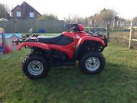 Nearly new Honda Red foreman TRX500 quad bike
