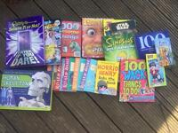Collection of books and annuals, plus human skeleton cardboard model £2.50
