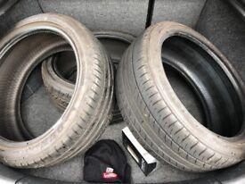 3 part worn tyres