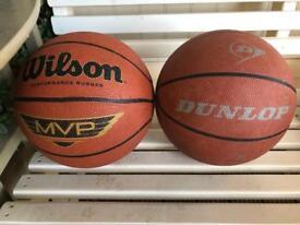 2 x basketballs