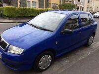 Skoda Fabia blue great first car!