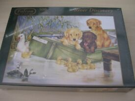 Brand New Falcon Deluxe River Discovery 500 piece Jigsaw