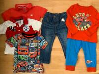 Baby clothes 9-12m (some Blaze themed)