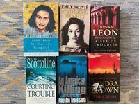 Books from A.Frank, E.Bronte, D.Leon, L.Scottoline, M.Smith, S.Brown.