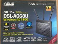 ASUS DSL-AC68U 1900Mbps Wireless AC Router (90IG00V1-BM3G00) Dual Band ADSL/VDSL