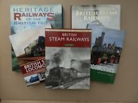 Railway books, mostly steam - collection of fourteen titles