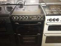 Black 60cm electric cooker