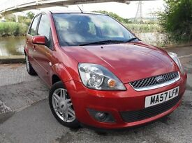 LATE 07 (57) PLATE FIESTA GHIA WITH FULL GREY LEATHER...ONLY 60 K MILES..FAB SERVICE..ALLOY WHEELS..