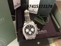 MENS AP AUDEMARS PIGUET ROYAL OAK CHRONOGRAPH NEW WITH BOX BOOKS CARDS TAGS BAG