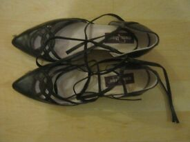 black leather women shoes for sale size 6 for sale