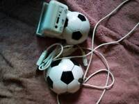 Football mouse and speaker