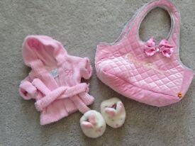 Build a Bear Nightgown, bunny slippers & BAB carrybag