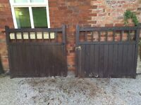 Period wooden gates with ironmongery