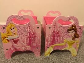 Set of two Disney Princess storage chests