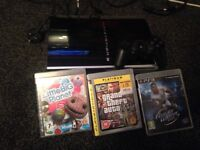 PS3 console +3 games