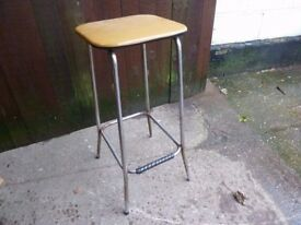 Square Leather Topped Chair Stool Delivery Available