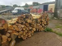 Firewood. Bundles of 1m long softwood logs. 1 cubic meter.