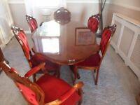 Italian rosewood dinning suite