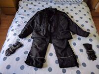 Crane motorbike jacket, trouser and glove set - large
