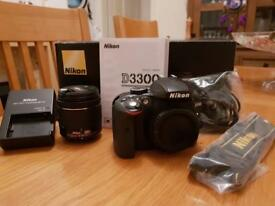 Nikon D3300 DSLR Camera with 18-55mm AF-P VR Lens — Black