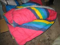 Sleeping bag and airbeds with pillows