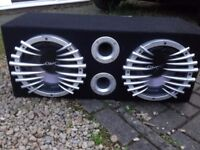 CAR SUBWOOFER AMP AND CAR SPEAKERS....