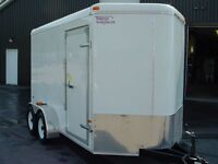 2015 US Cargo REMORQUE 7' X 14' V-NOSE 2 ESSIEUX TORSION SIDE BY