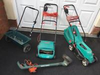 Bosch 32F Lawn Raker Rotak 34R Lawnmower Strimmer - Collection From Abergavenny.