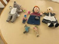 3 Hand Puppets Including The Big Bad Wolf and The Three Little Pigs Hand Puppet.