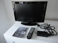 Hitachi 19 inch LCD TV with built in DVD