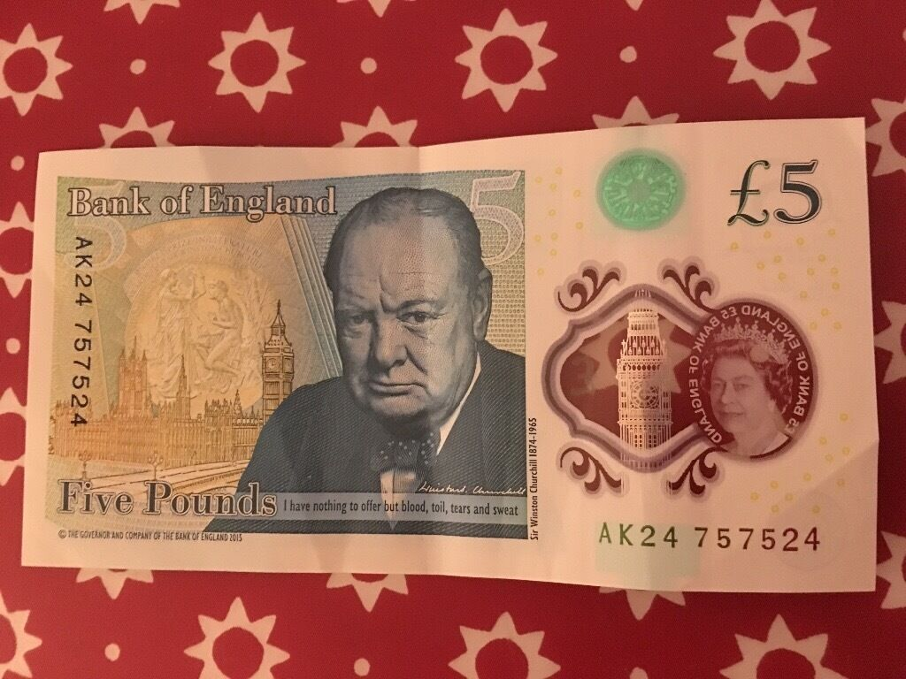 New £5 note with sequential numbers!