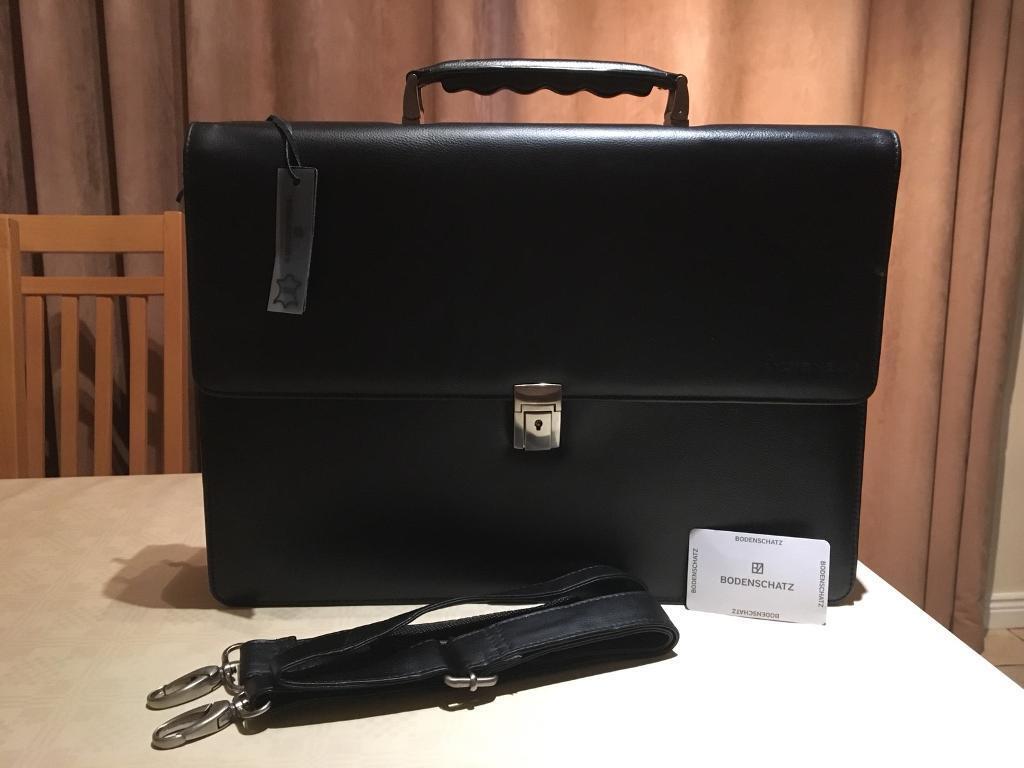 Genuine leather bodenschatz briefcase