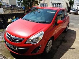 Vauxhall Corsa 1.0 ecoflex. 13 Plate Red, Low Mileage, CAT D