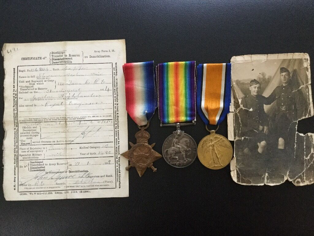 WW1 Trio of medals
