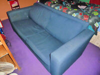 Blue 2 Seater Sofa Free Collection