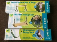 2 x Childrens Swings 1 x Trapeze Bar/Rings - **Brand New - RRP £90**