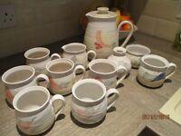 Vintage Barbara Davidson Larbert Pottery Coffee Set