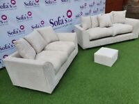 Brand New Dylan Premium Sofas 3+2 / Corner Sofa / Swivel Chair / Footstool